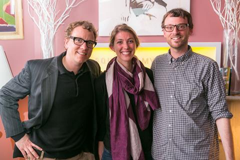 Colin Stanfield, Liz Cook of Kickstarter, David Nugent